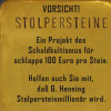 Stolperstein-Recycling